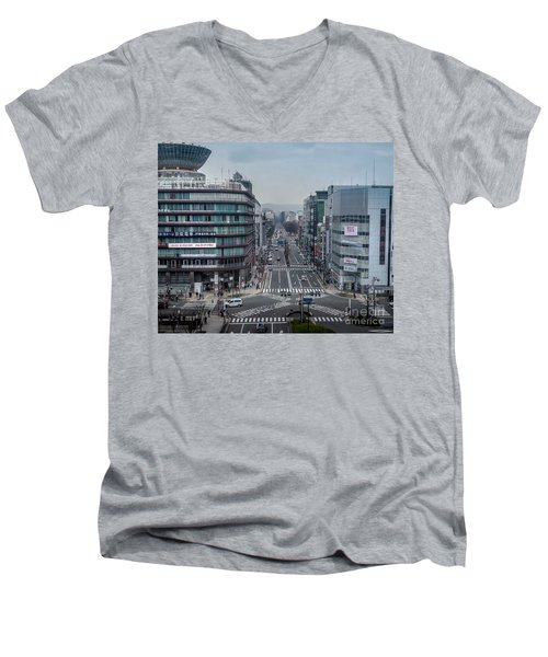Urban Avenue, Kyoto Japan Men's V-Neck T-Shirt