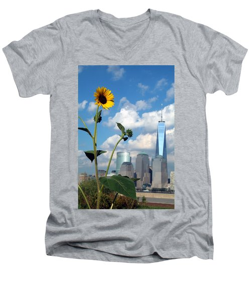 Men's V-Neck T-Shirt featuring the photograph Urban Contrast by Michael Dorn