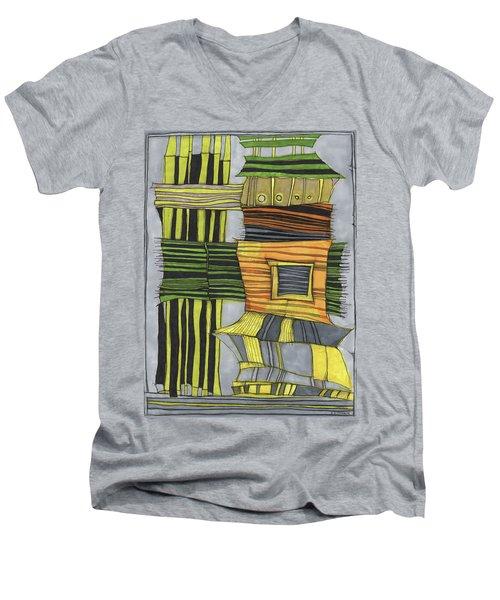 Urban Delight Men's V-Neck T-Shirt by Sandra Church
