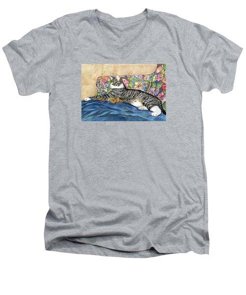 Urban Jungle Men's V-Neck T-Shirt by Shari Nees