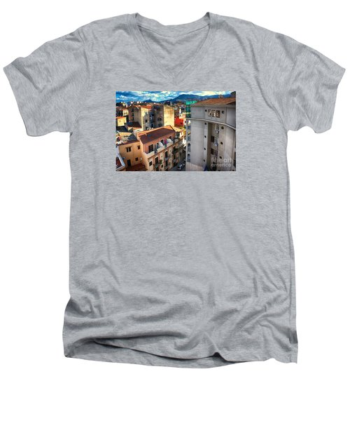 Urban Landscape In Palermo Men's V-Neck T-Shirt