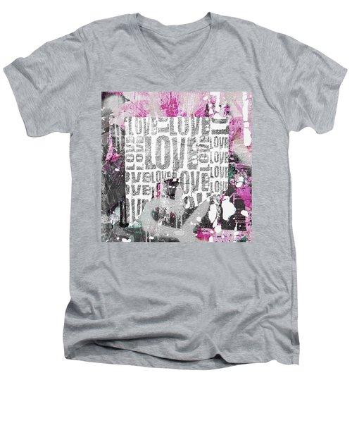 Urban Love Men's V-Neck T-Shirt by Roseanne Jones