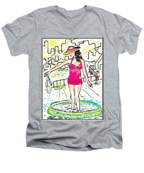 Urban Poolside Men's V-Neck T-Shirt