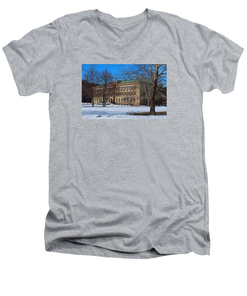 Us Court House And Custom House Men's V-Neck T-Shirt by Michiale Schneider