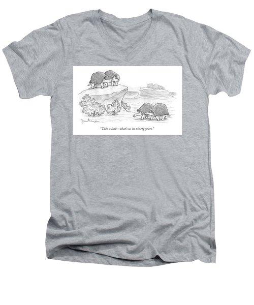 Us In Ninety Years Men's V-Neck T-Shirt