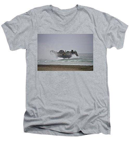 Us Navy Hovercraft Men's V-Neck T-Shirt