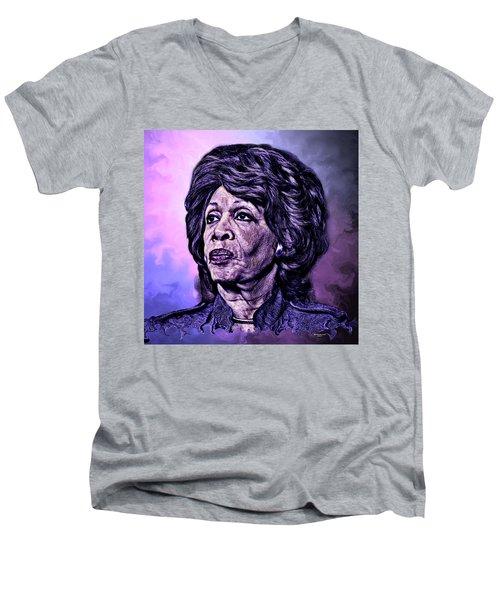 Us Representative Maxine Water Men's V-Neck T-Shirt