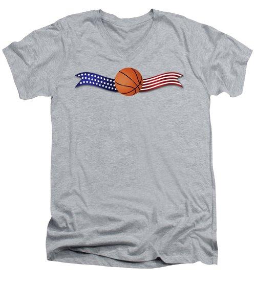 Usa Basketball Men's V-Neck T-Shirt