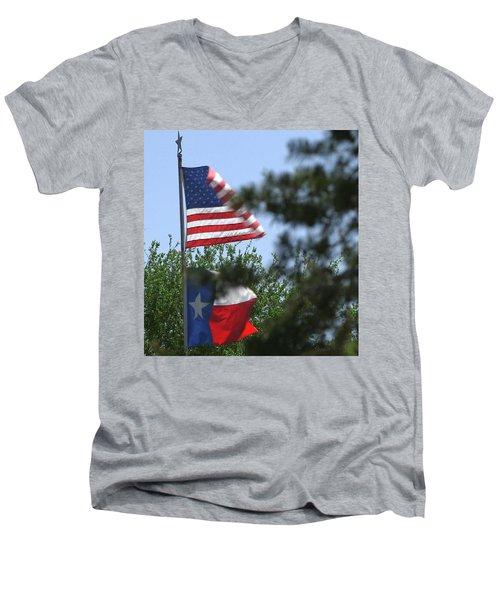 Usa Blesses Texas Men's V-Neck T-Shirt