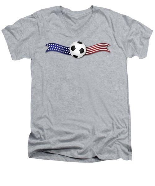 Usa Soccer Men's V-Neck T-Shirt