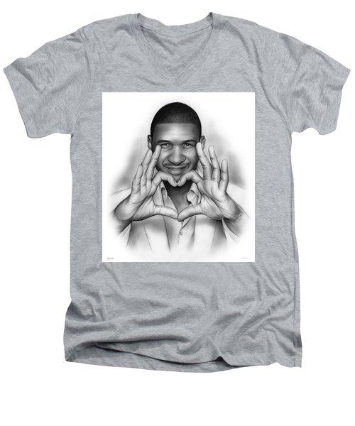 Usher Men's V-Neck T-Shirt by Greg Joens