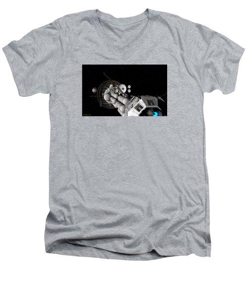 Uss Savannah Nearing Jupiter Men's V-Neck T-Shirt