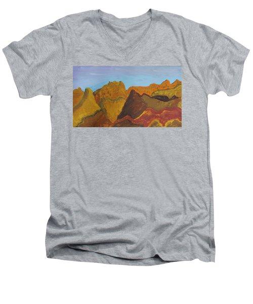 Utah Mountains Men's V-Neck T-Shirt by Don Koester