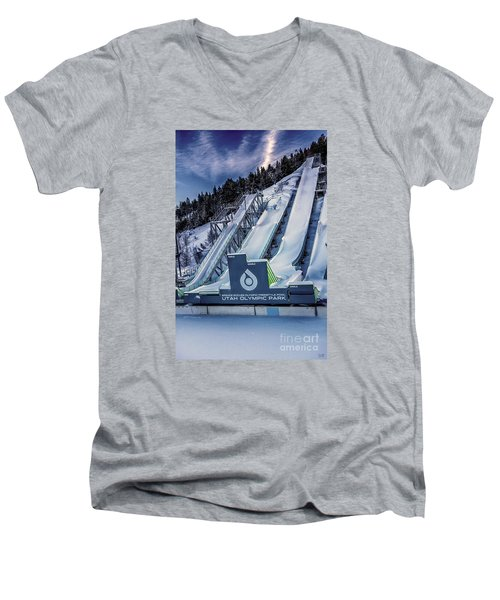 Utah Olympic Park Men's V-Neck T-Shirt