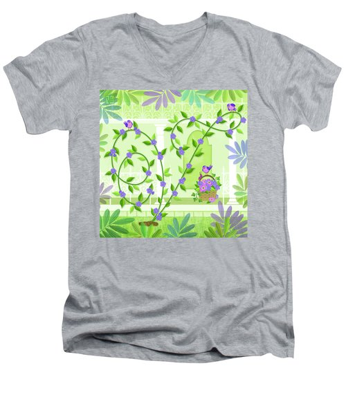 V Is For Vine And Veranda Men's V-Neck T-Shirt