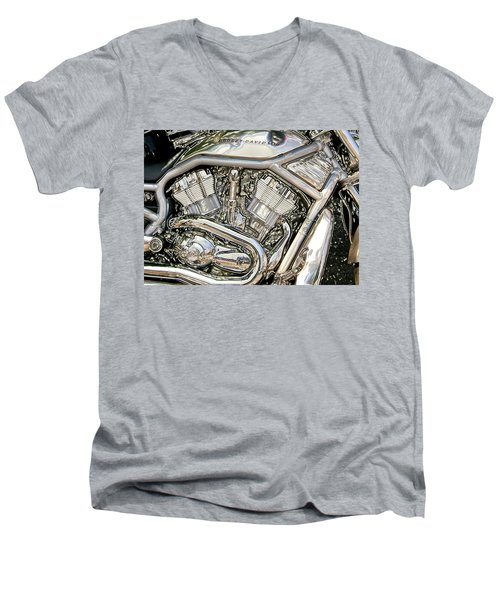 V-rod Titanium Men's V-Neck T-Shirt