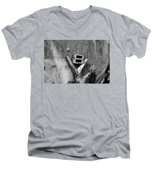 V8 Emblem Men's V-Neck T-Shirt