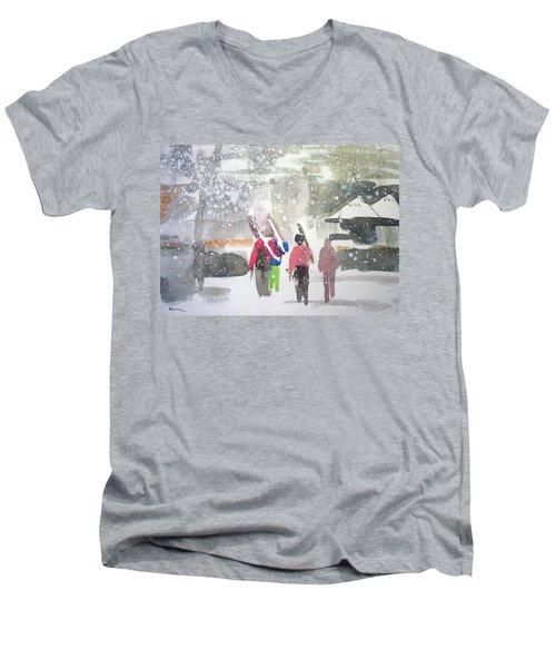 Vail,colorado  Men's V-Neck T-Shirt by Ed Heaton