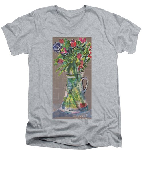 Valentine Rose Men's V-Neck T-Shirt