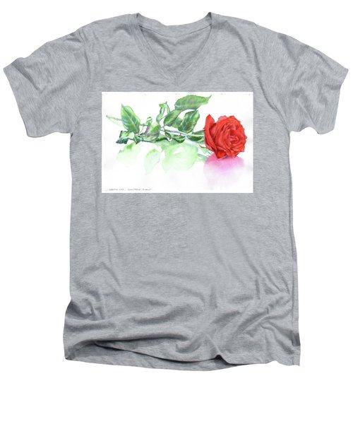 Valentine Rose Men's V-Neck T-Shirt