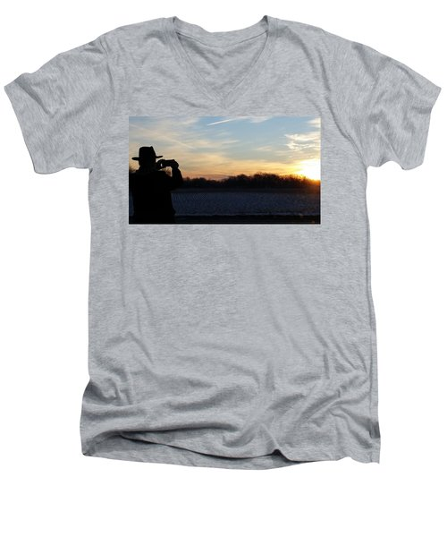 Valentines Sunrise Men's V-Neck T-Shirt