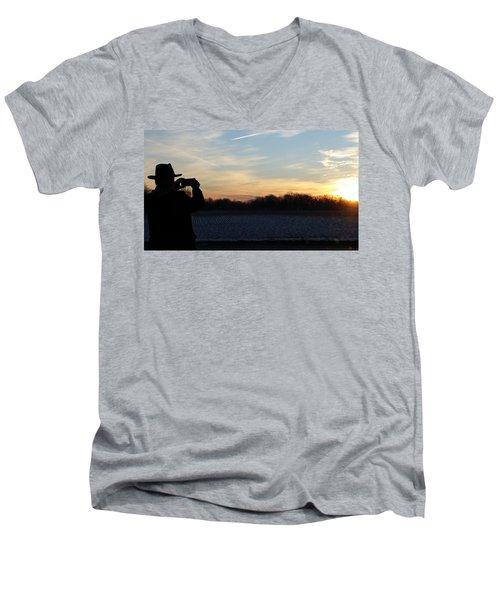 Valentines Sunrise Men's V-Neck T-Shirt
