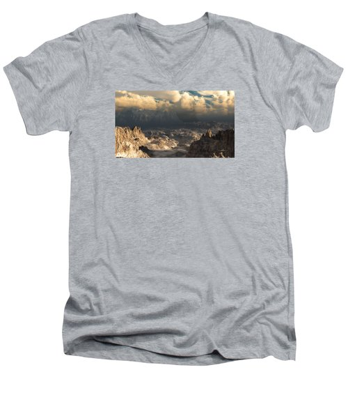 Valley At Dusk Men's V-Neck T-Shirt
