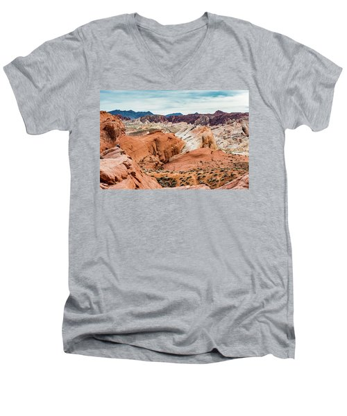Valley Of Fire  Men's V-Neck T-Shirt