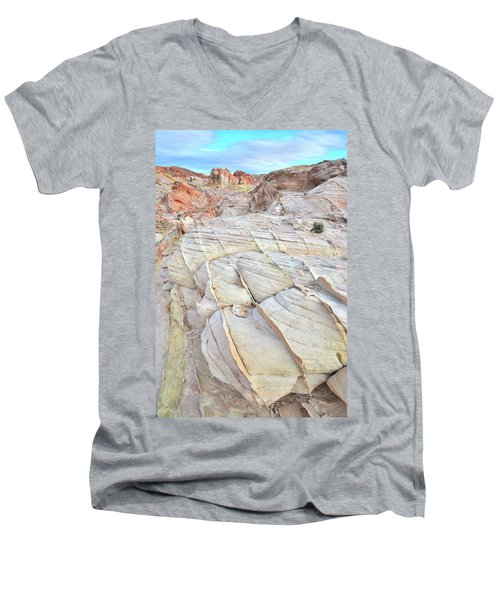 Valley Of Fire Sandstone Men's V-Neck T-Shirt by Ray Mathis