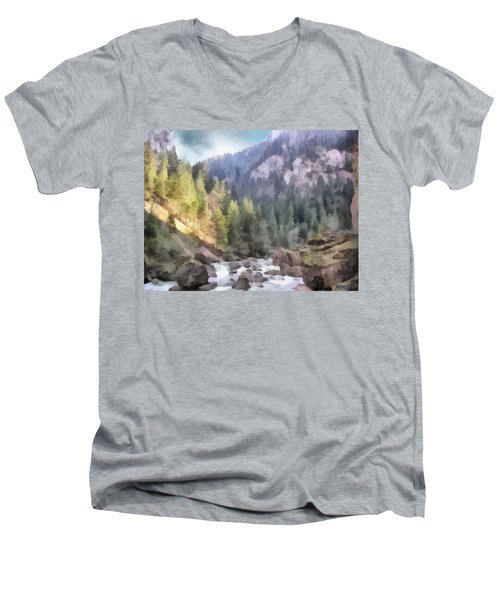 Valley Of Light And Shadow Men's V-Neck T-Shirt