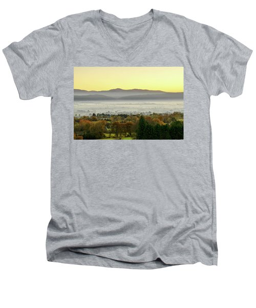 Valley Of Mist Men's V-Neck T-Shirt