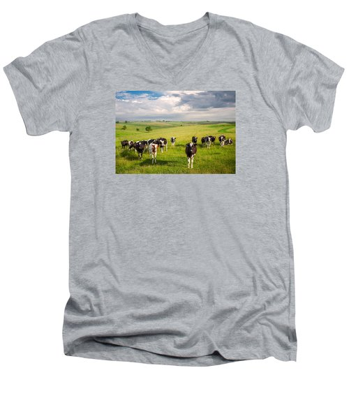 Valley Of The Cows Men's V-Neck T-Shirt