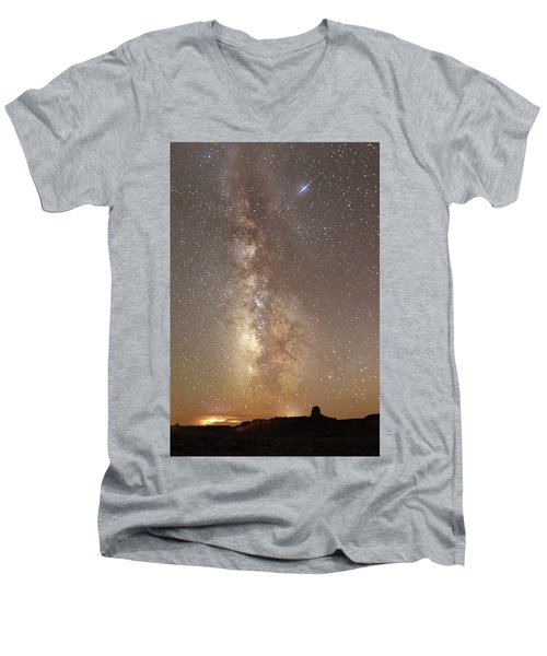 Valley Of The Gods Milky Way Men's V-Neck T-Shirt