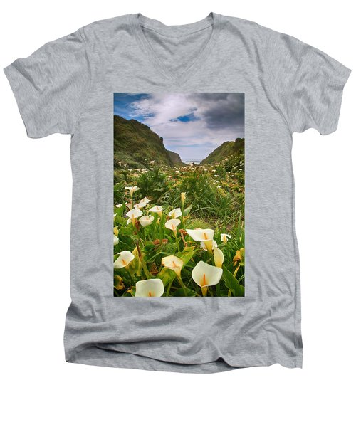 Valley Of The Lilies Men's V-Neck T-Shirt