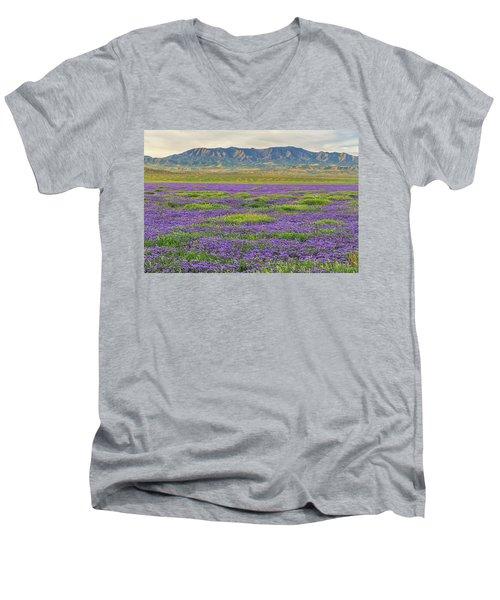 Valley Phacelia And Caliente Range Men's V-Neck T-Shirt