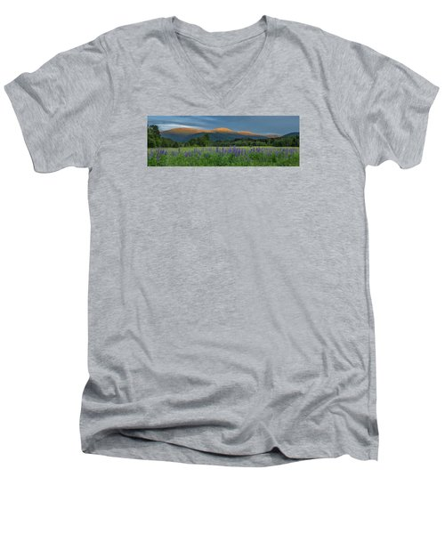 Valley Way Lupine Sunset Men's V-Neck T-Shirt
