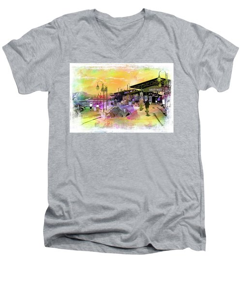 Valley Wells California Men's V-Neck T-Shirt
