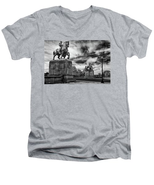Valor Men's V-Neck T-Shirt by Paul Seymour