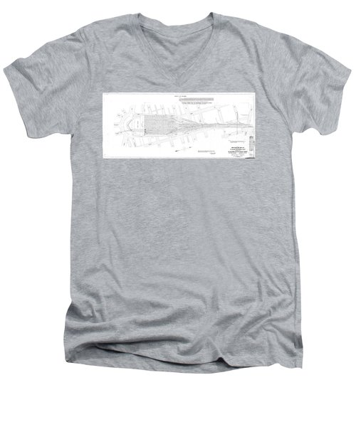 Valuation Map Washington Union Station Men's V-Neck T-Shirt