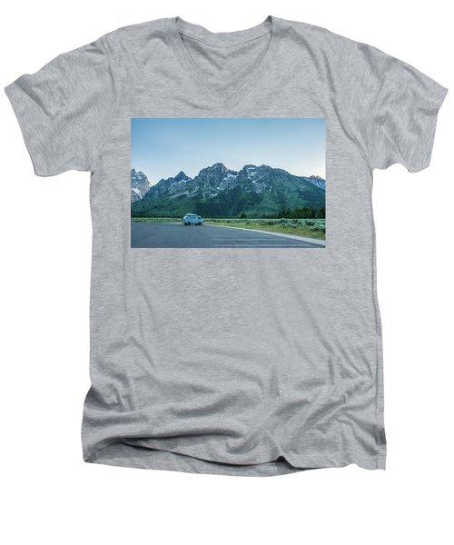 Van Life Men's V-Neck T-Shirt by Alpha Wanderlust