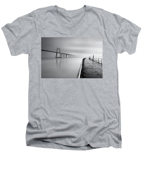Men's V-Neck T-Shirt featuring the photograph Vanishing by Jorge Maia