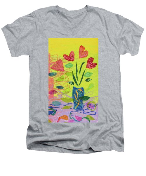 Vase Full Of Love Men's V-Neck T-Shirt