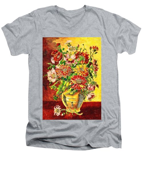 Vase Of Flowers Men's V-Neck T-Shirt