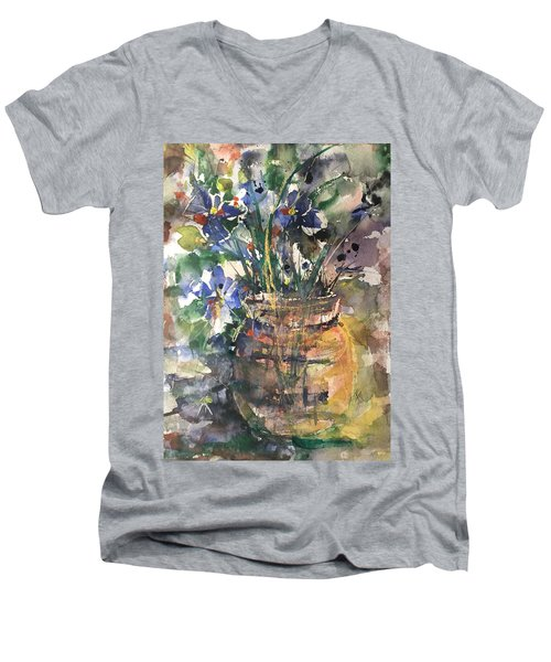 Vase Of Many Colors Men's V-Neck T-Shirt
