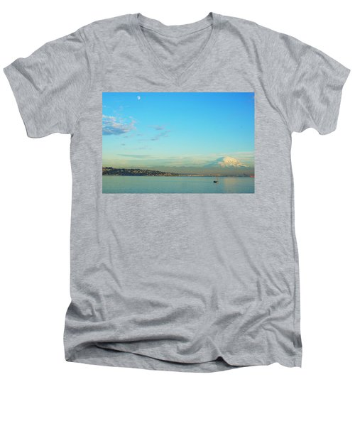 Men's V-Neck T-Shirt featuring the photograph Vashon Island by Angi Parks