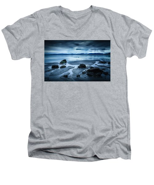 Vatnajokull From Stokksnes Men's V-Neck T-Shirt