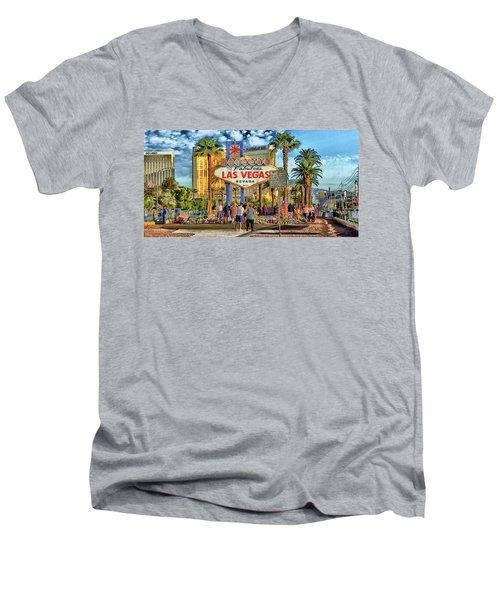 Vegasstrong Men's V-Neck T-Shirt