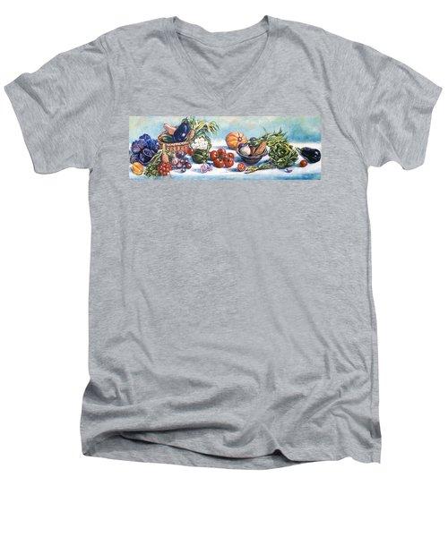 Veggies  Men's V-Neck T-Shirt by Alexandra Maria Ethlyn Cheshire