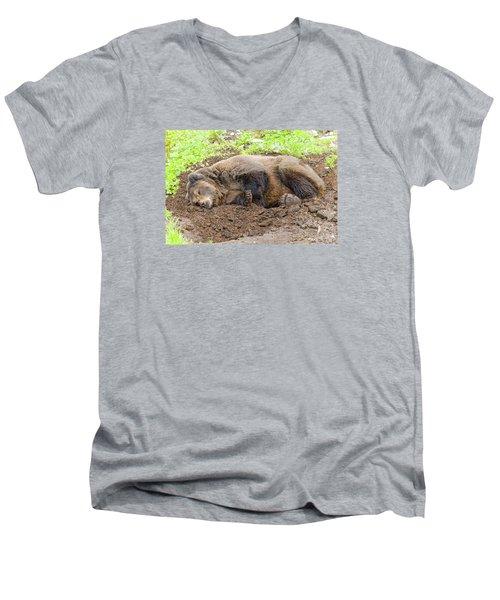 Veggin Out Men's V-Neck T-Shirt by Harold Piskiel
