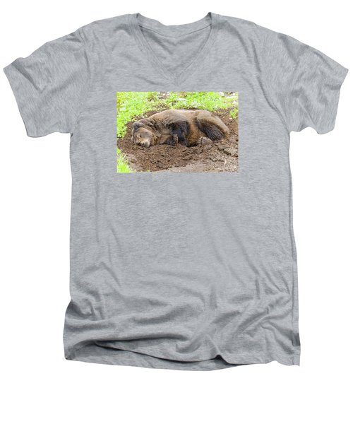 Veggin Out Men's V-Neck T-Shirt